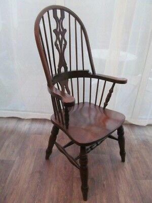 High Back  Windsor Chair Armchair Spindle Back Antique Style Furniture Delivery