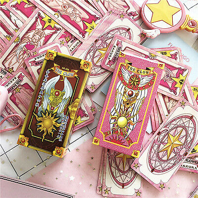 Cardcaptor Sakura 56 cards with box Captor Sakura Clow Cards Cosplay Collection