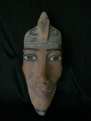 Ancient EGYPTIAN Antiques EGYPT STATUE KING AKHENATEN Mask Carved Stone 1336 BC