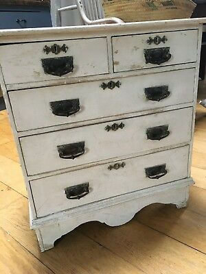 Vintage Shabby Chic Miniature Chest of Drawers Salesman Apprentice Piece