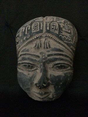 Rare EGYPTIAN STATUE Antiques EGYPT PHARAOH Hatshepsut Mask Carved STONE BC