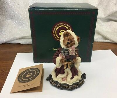 """The Ghost of Christmas Present"" 4"" Boyds Bears Bearstone Figurine In Box"