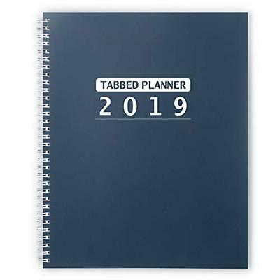 2019 Weekly Monthly Planner with Monthly Tabs and Note Pages 8.5 x 11 inches