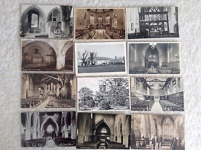 Bulk Lot Of 100 Black & White Postcards Of Churches,chapels And Interior Ones