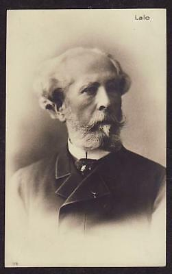 REAL VIGNETTE PHOTO POSTCARD FRENCH COMPOSER EDOUARD LALO c1910