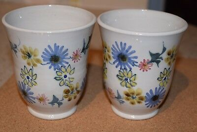 A PAIR OF RYE POTTERY BEAKERS BY PAM GODDARD 1960s