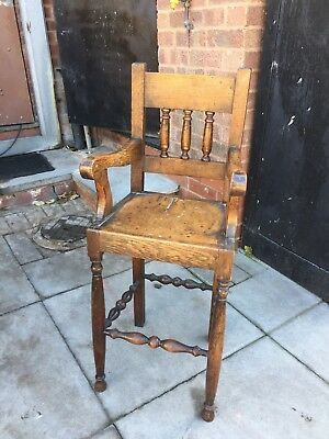 Childs Wooden High Chair Edwardian Oak ?