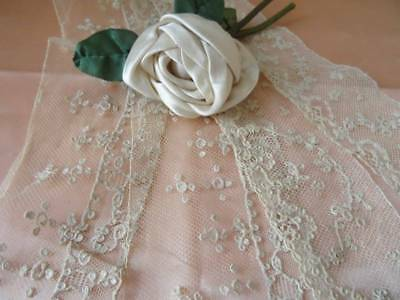 4 Wonderful Lengths Antique Early 19th Century Alencon Lace