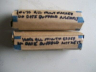 2 Rolls Of No Date Buffalo Nickels 100% Mint Marked Free Shipping