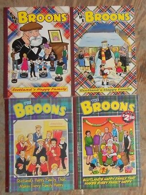 4 The Broons Comic Annuals , 1982 To 1994 , Lot 1, Vg/ex. Free Post Uk