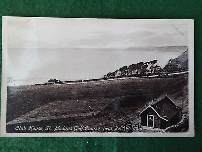 Dumfriesshire. St Medan's Golf Course And Club House. Square 9th Green. 1913. RP