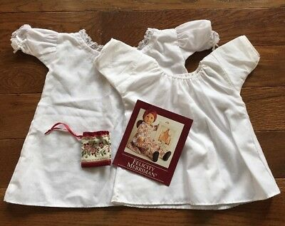 American Girl Doll Felicity Merriman Meet Purse Bag Shift Dress Night Gown Lot