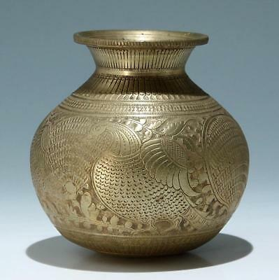 Indian Casted and Incised Brass Bowl - 20th C.         #as235