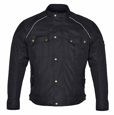 Classic Style Men Black Textile winter Motorcycle Jackets waterproof CE Armourd
