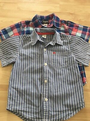 Toddler Boys lot of 2 Short Sleeve Button Down Size 3T Shirts