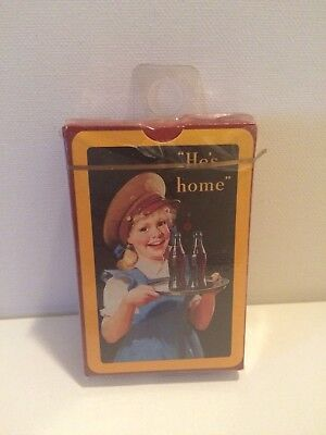 """Coca Cola """"He's Home"""" Vintage Playing Cards"""