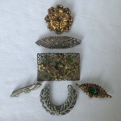Antique & Vintage Brooch Collection for Repairs & Spares some Czech