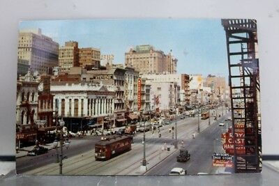 Louisiana LA New Orleans Canal Street Postcard Old Vintage Card View Standard PC