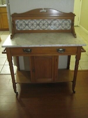 Victorian Marble Topped Wash Stand