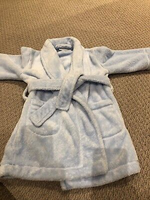 The Little White Company Pale Blue Dressing Gown 18-24 Months