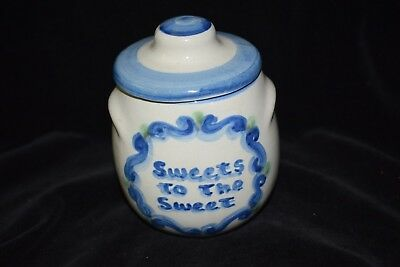 """Sugar Bowl w/Lid - M.A. Hadley - """"Sweets to the Sweet"""" Bees & Hive  - Charming!"""