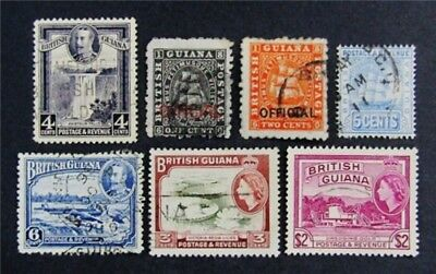 nystamps British Guiana Stamp # 175 // O2 Used $60