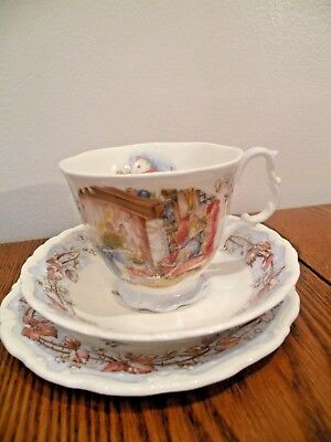 Royal Doulton Brambly Hedge Winter Cup And Saucer Trio 3 Pieces