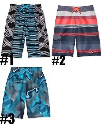 d217808d2d New Nike Boys Printed Swim Trunks Shorts Choose Color and Size MSRP $38.00