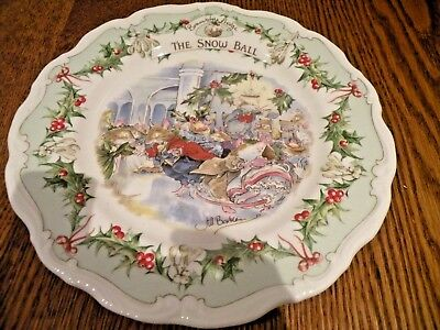 Royal Doulton Brambly Hedge  Plate 8 Inch The Snow Ball