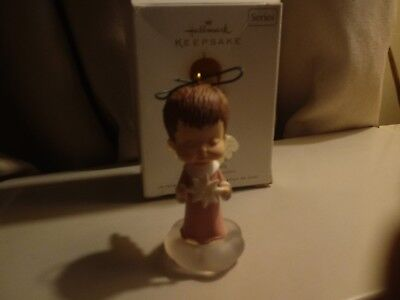 "2009 Hallmark Ornament Mary's Angel ""china Rose"" 22Nd In Series."