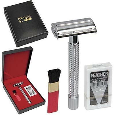 KINGSLEY for Men, 4 Pc. SHAVE GIFT SET  -  Razor, Cleaning Brush & Blades, SB-68