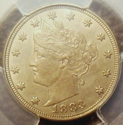 1883 Liberty V Nickel (No Cents Variety), Exceptional Coin,  Pcgs Graded Au55