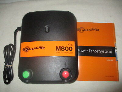 NWOP Gallagher M800 8 Joule Electric Fence Charger 520 Acres/90 Miles