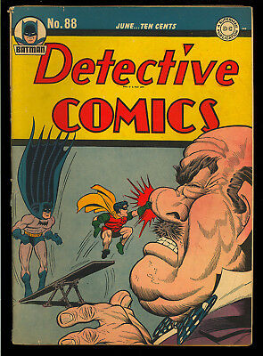 Detective Comics #88 Nice Original Owner Golden Age Batman DC 1944 VG-