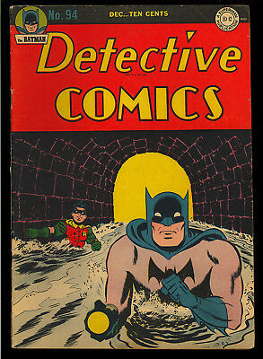 Detective Comics #94 Nice Original Owner Golden Age Batman DC 1944 FN-