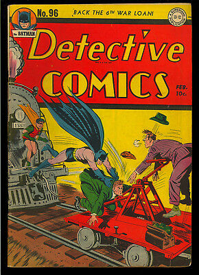 Detective Comics #96 Nice Original Owner Golden Age Batman DC 1945 VG-FN