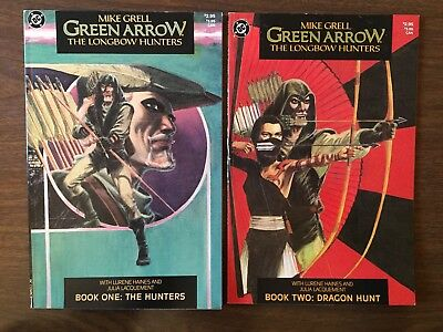 Green Arrow: The Longbow Hunters #1,2 Mike Grell 1st Print