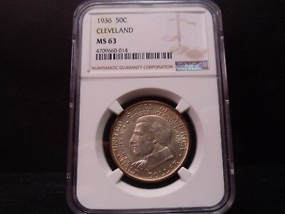 1936 MS63 Cleveland Silver Commemorative NGC Certified - Very Nice !