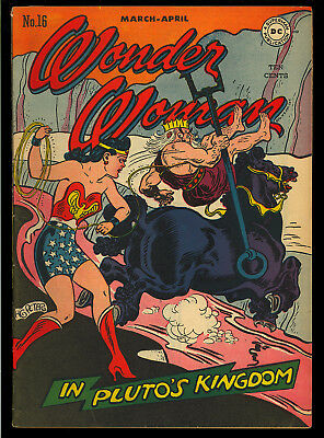 Wonder Woman #16 Very Nice Original Owner Golden Age DC Comic 1946 FN-VF