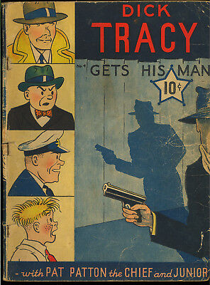 Dick Tracy Large Feature Comic #4 (Missing 3 CFs) Early Dell 1939 GD-*