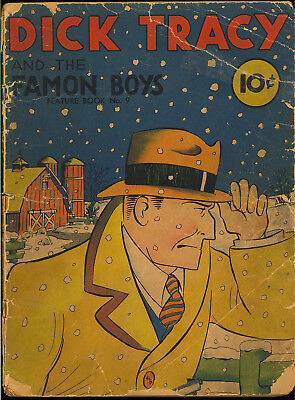 Dick Tracy Feature Book #9 (Missing CF) Early David McKay Comic 1938 FR-GD*