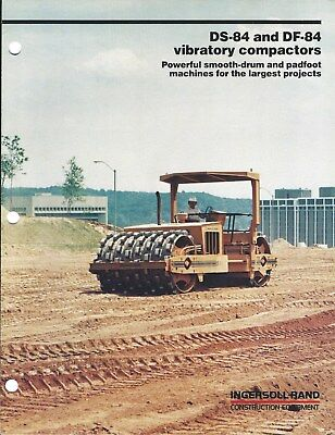 Equipment Brochure - Ingersoll-Rand DS-84 DF-84 Vibratory Compactor 1983 (E4748)