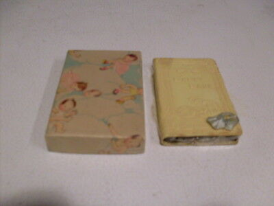 Nice Never Used Baby's Bank Book With Elephant Original Box & Key