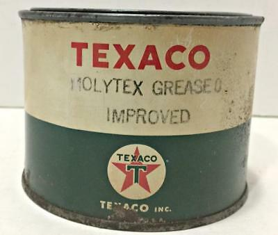 Vtg Adv Service Station Tin: Texaco Molytex Grease 1 Pound