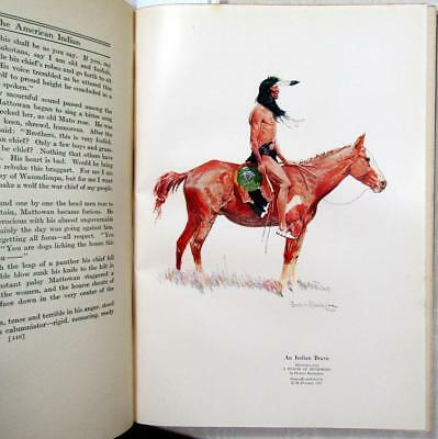 "1923 FREDERIC REMINGTON Illustrations – ""Book of the American Indian"" – 1st Ed."