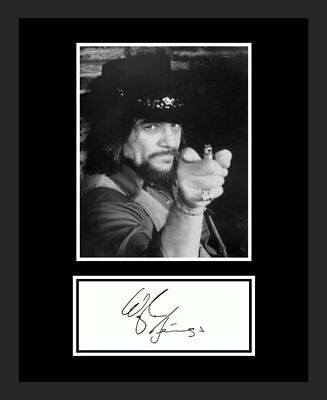 Waylon Jennings *signed* Replica Auto Photo Display *fantastic*