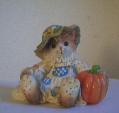 """1996 Calico Kittens """" You're The Best In The Field  """" Halloween Figurine"""