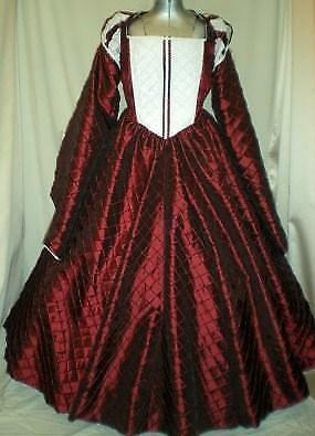 "Elizabethan Tudor Renaissance Juliet Dress Gown, Your Size Busts 32"" - 44"""