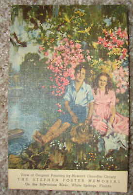 Howard Chandler Christy Stephen Foster Suwanee FL Vintage Color Linen Teich