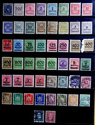 Germany: 1920's Classic Era Stamp Collection Mostly Unused With Never Hinged